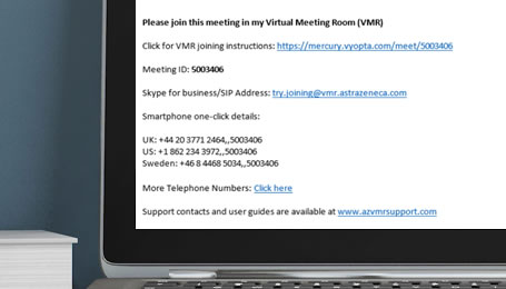 Virtual Meeting Rooms | AstraZeneca